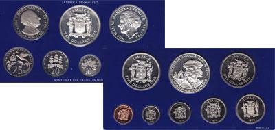 Изображение Подарочные монеты Ямайка выпуск 1975 года 1975  Proof Подарочный набор пос