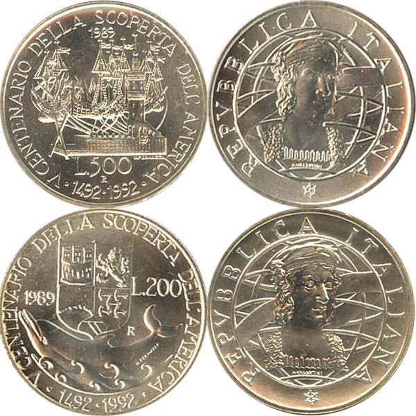 Картинка Подарочные наборы Италия 500- летие открытия Америки Серебро 1989