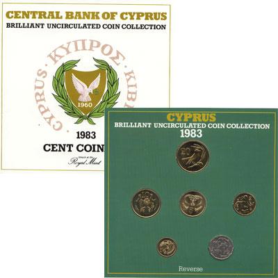 Изображение Подарочные монеты Кипр Выпуск 1983 1983  UNC Официальный выпуск м