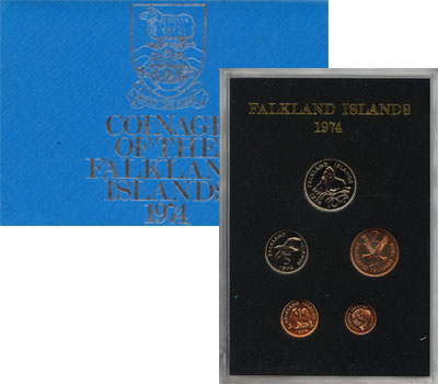 Изображение Подарочные монеты Фолклендские острова Выпуск 1974 года 1974  UNC