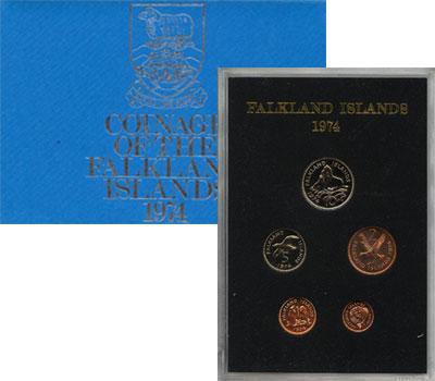 Изображение Подарочные монеты Фолклендские острова Выпуск 1974 года 1974  UNC Выпуск Фолклендских