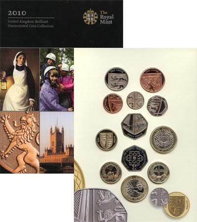 Изображение Подарочные монеты Великобритания Новые гербы 2010 2010  UNC