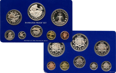 Изображение Подарочные монеты Барбадос Выпуск 1975 года 1975  Proof