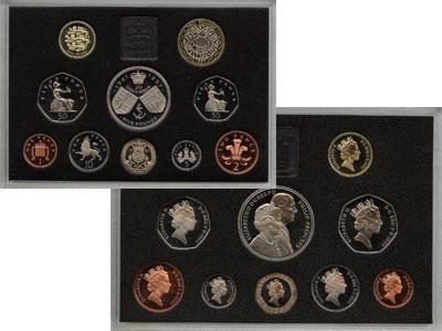 Изображение Подарочные наборы Великобритания Выпуск 1997 года 1997  Proof Набор монет состоит