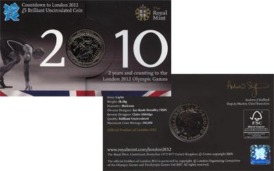 Изображение Подарочные наборы Великобритания Олимпийские игры 2012 2010 Медно-никель UNC Подарочный набор пос