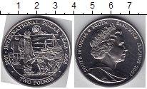Изображение Мелочь Сендвичевы острова 2 фунта 2007 Медно-никель UNC Полярный год