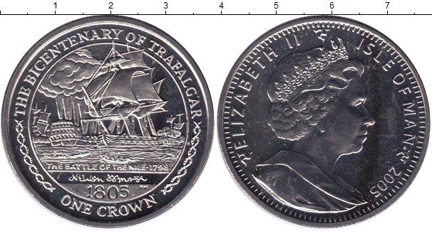 Картинка Мелочь Остров Мэн 1 крона Медно-никель 2005