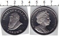 Изображение Мелочь Фолклендские острова 1 крона 2009 Медно-никель UNC Чарльз Дарвин