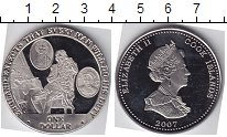 Изображение Мелочь Острова Кука 1 доллар 2007 Медно-никель UNC Англия ожидает, что