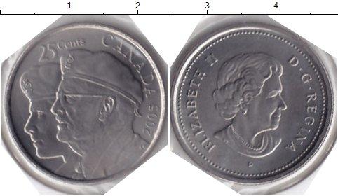 Картинка Мелочь Канада 25 центов Медно-никель 2005