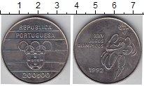 Изображение Мелочь Португалия 200 эскудо 1992 Медно-никель XF+ XXV Олимпийские игры