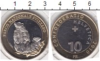 Изображение Мелочь Швейцария 10 франков 2010 Биметалл UNC
