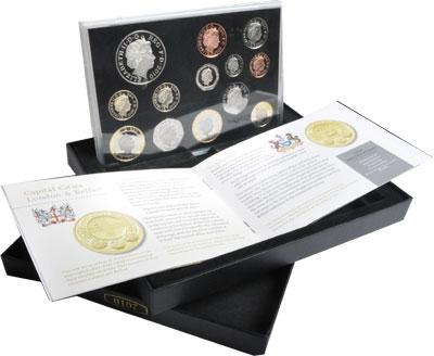 Изображение Подарочные наборы Великобритания Новые гербы 2010 2010  Proof