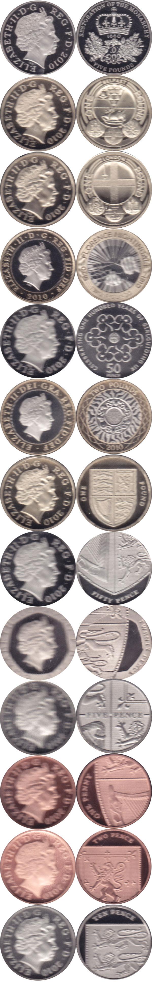 Картинка Подарочные наборы Великобритания Новые гербы 2010  2010