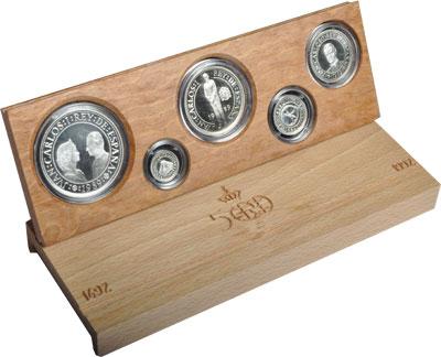 Изображение Подарочные монеты Испания 500- летие открытия Америки 1989 Серебро Proof Подарочный набор пос