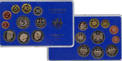 Изображение Подарочные монеты Германия ФРГ Монеты 1987 (чеканка Карлсруэ) 1987  UNC
