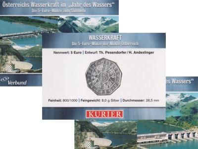 Изображение Подарочные наборы Австрия Вассеркрафт 2003 2003 Серебро UNC Подарочный набор пос