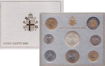 Изображение Подарочные монеты Ватикан Великий юбилейный год 2000  UNC