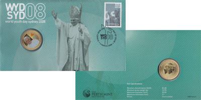 Изображение Подарочные монеты Австралия Международный день молодёжи 2008  UNC Подарочный набор пос