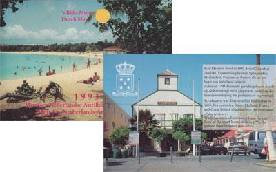 Изображение Подарочные монеты Антильские острова Выпуск 1993 года 1993  UNC Выпуск монет 1993 го