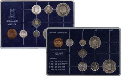 Изображение Подарочные монеты Антильские острова Выпуск 1985 года 1985  UNC Выпуск монет 1985 го