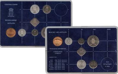 Изображение Подарочные монеты Антильские острова Выпуск 1983 года 1983  UNC Выпуск монет 1983 го