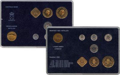 Изображение Подарочные монеты Антильские острова Выпуск 1990 года 1990  UNC Выпуск монет 1990 го