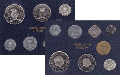Изображение Подарочные монеты Антильские острова Выпуск 1980 года 1980  UNC Выпуск монет 1980 го