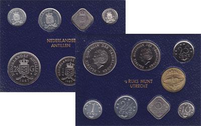 Изображение Подарочные монеты Антильские острова Выпуск 1981 года 1981  UNC Выпуск монет 1981 го