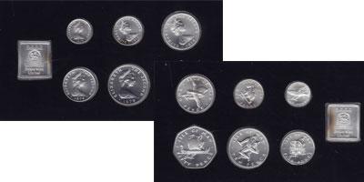 Изображение Подарочные монеты Остров Мэн Выпуск 1978 года в серебре 1978 Серебро UNC ! БЕЗ ФУТЛЯРА !<BR><
