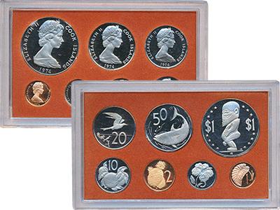 Изображение Подарочные монеты Острова Кука Выпуск 1974 года 1974  Proof Выпуск монет 1974 го