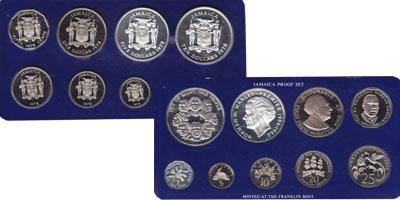 Изображение Подарочные монеты Ямайка Выпуск 1978 года 1978  Proof Подарочный набор пос