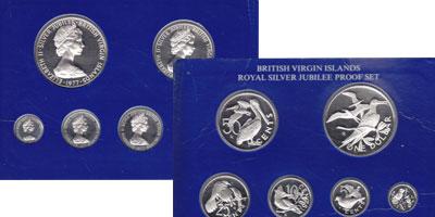 Изображение Подарочные монеты Виргинские острова Выпуск 1977 года 1977 Серебро Proof Предлагаем Вашему вн