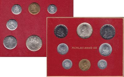 Изображение Подарочные наборы Ватикан Юбилейный выпуск монет 1962 года 1962  UNC Юбилейный выпуск 196