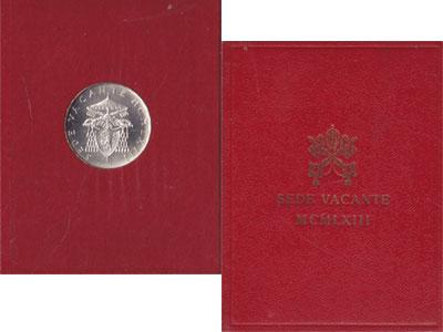 Изображение Подарочные монеты Ватикан Седе Ваканте 1963 1963 Серебро UNC-