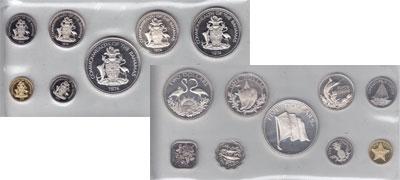 Изображение Подарочные монеты Багамские острова Выпуск 1974 года 1974  Proof