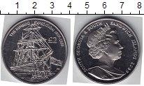 Изображение Мелочь Сендвичевы острова 2 фунта 2009 Медно-никель UNC-