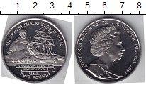 Изображение Мелочь Сендвичевы острова 2 фунта 2004 Медно-никель UNC- Э. Шаклетон. Парусни