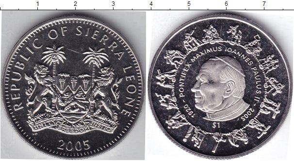 Картинка Мелочь Сьерра-Леоне 1 доллар Медно-никель 2005