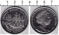 Изображение Мелочь Сендвичевы острова 2 фунта 2001 Медно-никель UNC- Эрнест Шаклетон
