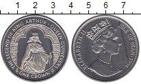 Изображение Мелочь Остров Мэн 1 крона 1996 Медно-никель UNC Король Артур