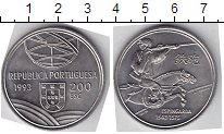 Изображение Мелочь Португалия 200 эскудо 1993 Медно-никель XF Спрингальд