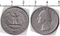 Изображение Мелочь США 1/4 доллара 0 Медно-никель  /