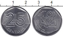 Изображение Мелочь Бразилия 25 сентаво 1995 Медно-никель  ФАО