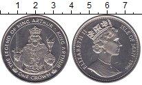 Изображение Мелочь Остров Мэн 1 крона 1996 Медно-никель UNC- Король Артур