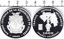 Изображение Монеты Гвинея 200 франков 2002 Серебро Proof Идол
