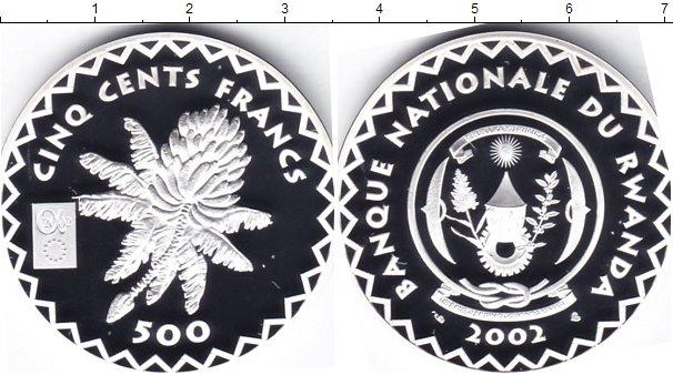 Картинка Монеты Руанда 500 франков Серебро 2002