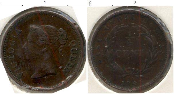 Картинка Монеты Стрейтс-Сеттльмент 1/4 цента Медь 1845