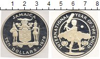 Изображение Монеты Ямайка 10 долларов 1979 Серебро  Международный день д