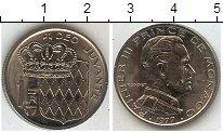 Изображение Мелочь Монако 1 франк 1977 Медно-никель  Рейнер III